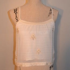 American eagle outfitters embroidered tank top